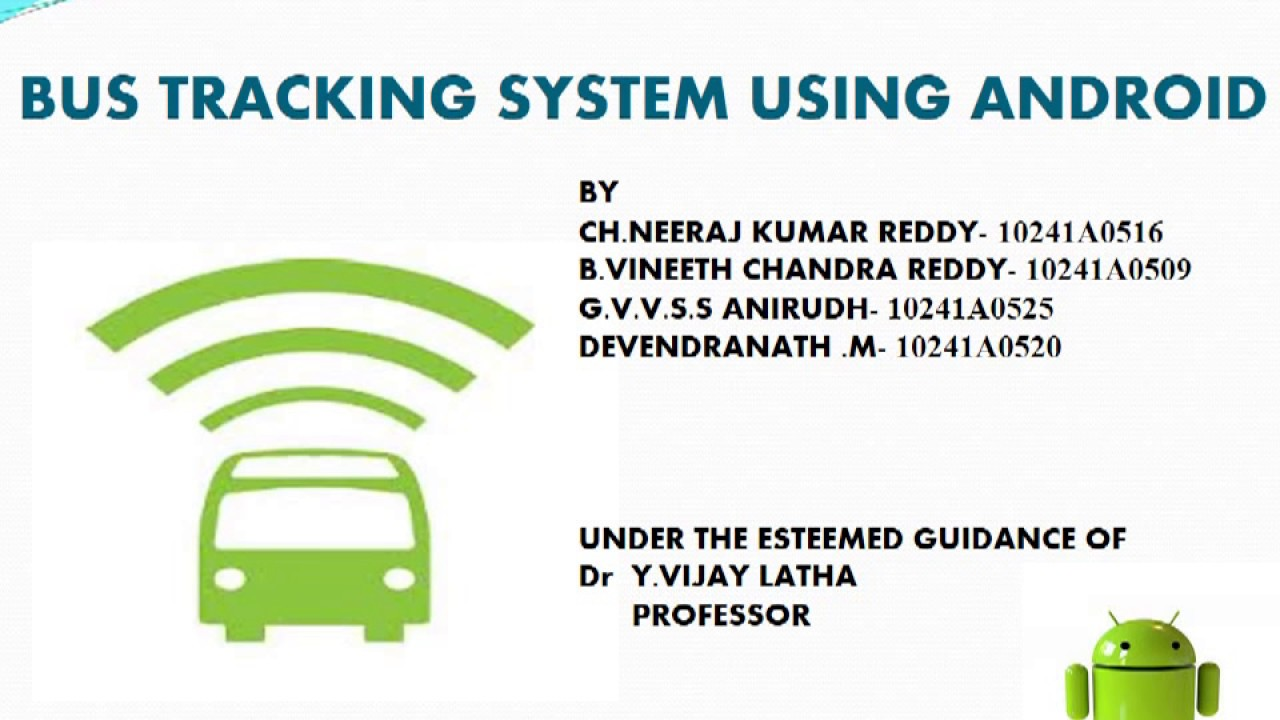 Bus Tracking System Ppt Bus Tracking System-griet
