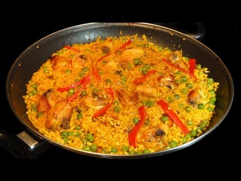 Paella de pollo y conejo / Paella Recipe With Chicken & Rabbit