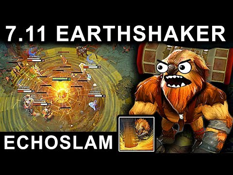 MASTER EARTHSHAKER PATCH 7.11 DOTA 2 NEW META GAMEPLAY #53 (BATTLEFURY CARRY EARTHSHAKER ECHOSLAM)