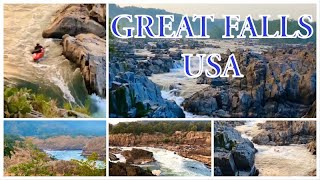 Imagine great falls in va usa || the natural beauty of great falls || একটি সুন্দর দিন  || USA