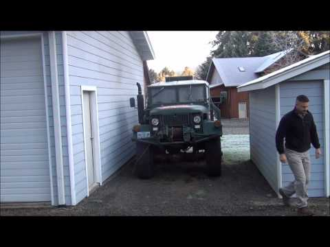 Cold start of an M35A2 diesel deuce and a half