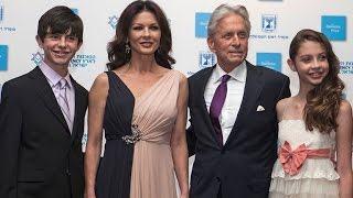 Catherine Zeta-Jones & Michael Douglas' Kids Are All Grown Up in Rare Red Carpet Appearance