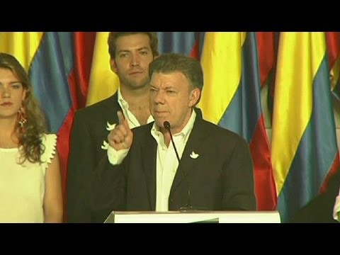 Colombia's President Juan Manuel Santos wins second term