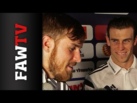 Gareth Bale and Aaron Ramsey Israel post-match reaction