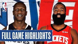 TIMBERWOLVES at ROCKETS | FULL GAME HIGHLIGHTS | January 11, 2020