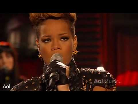 Rihanna- Rihanna Russian roulette AOL Session 2010 HQ Live Video