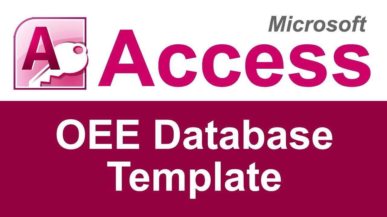 microsoft access oee database template