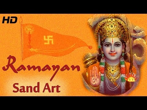 Valmiki Ramayana in Hindi - Sand Art with English Subtitles-...