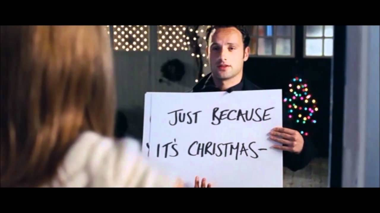 Cue Cards Love Actually Youtube