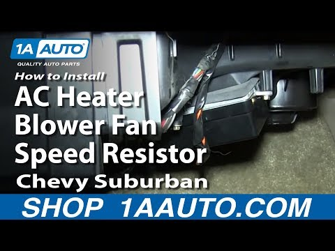 How To Install  AC Heater Blower Fan Speed Resistor 2000-02 Chevy Suburban Tahoe