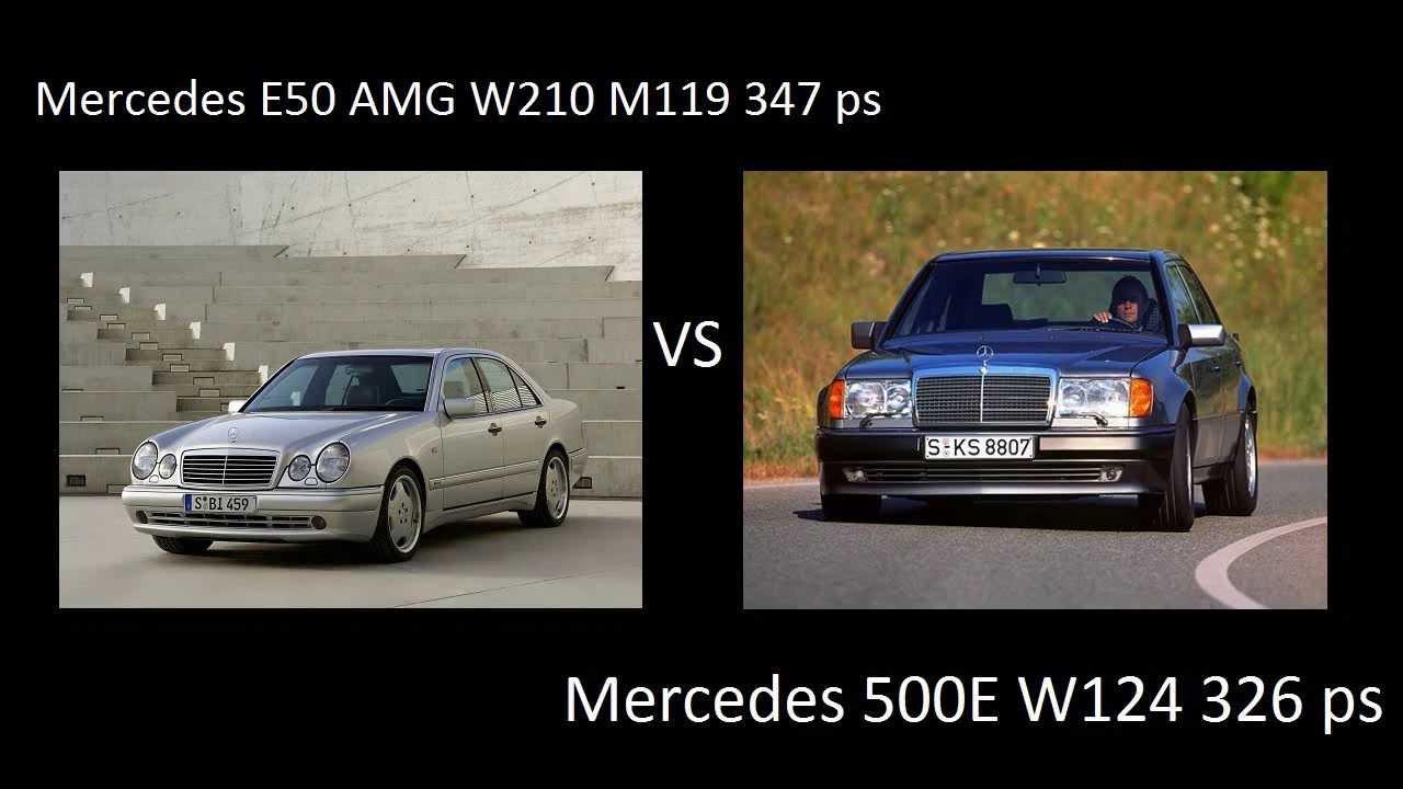 Mercedes W124 500e M119 326 Ps Vs Mercedes W210 E50 Amg
