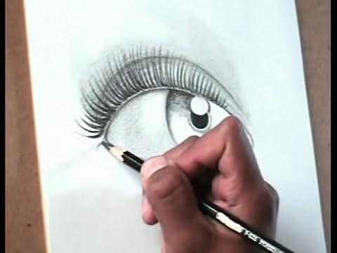 TÉCNICAS DE DIBUJO PROFESIONAL. Dibujar un ojo femenino. Comentado paso a paso