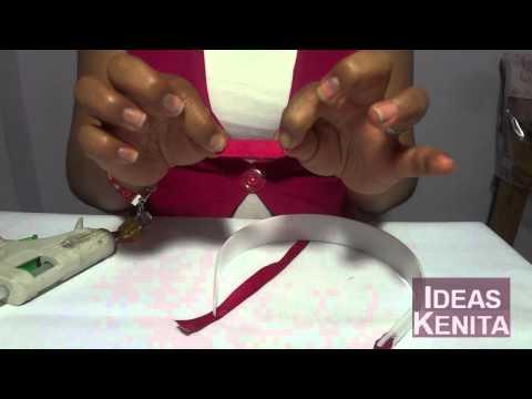 Diademas tejidas con cintas paso a paso - Imagui