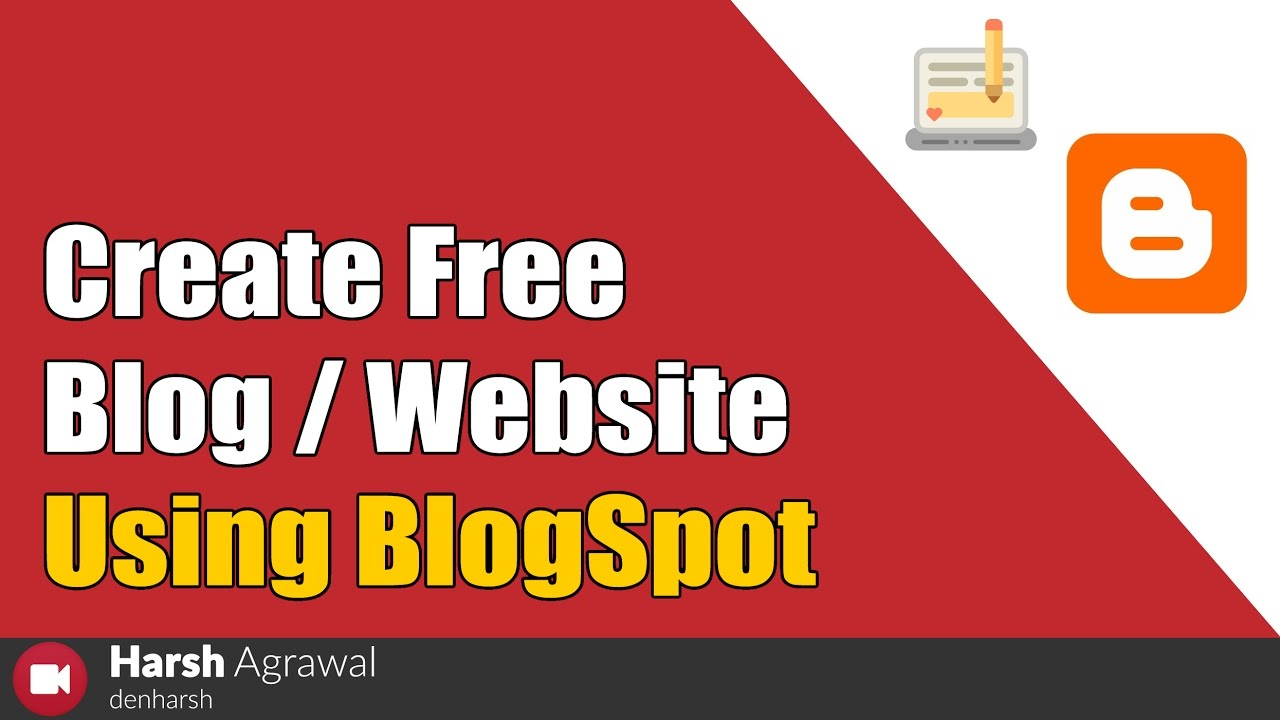 How To Create Free Blog Website Using Youtube