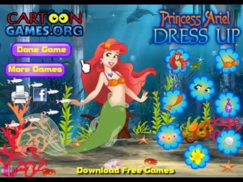 Disney Princess - Princess Ariel Dress Up (Dress Up Game for Girls)