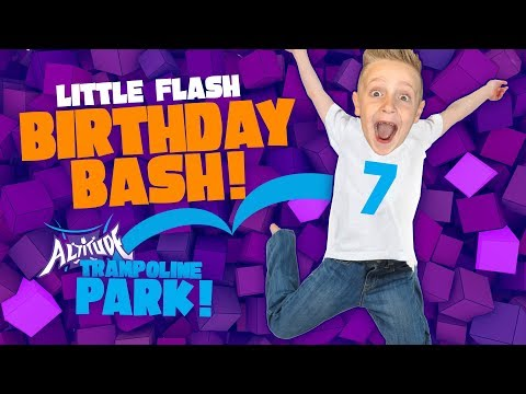 Little Flash's Birthday Party VLOG! Kids @ Indoor Trampoline Playground