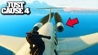JUST CAUSE 4 (Funny Moments) - O AVIÃO PAROU no MEIO DO MAR!!!