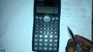 solve and calc functions using FX 991 MS calculator in telugu