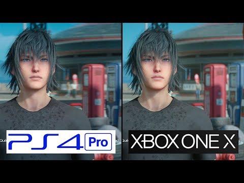 Final Fantasy XV   Xbox One X vs PS4 Pro   4K Graphics Comparison   Comparativa