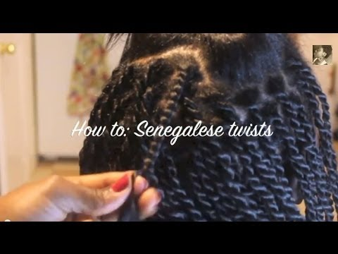 Twist from the Root: Senegalese twists on Relaxed hair - YouTube