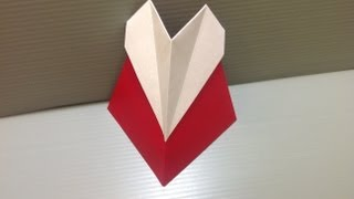 Daily Origami: 045 - White Heart Love