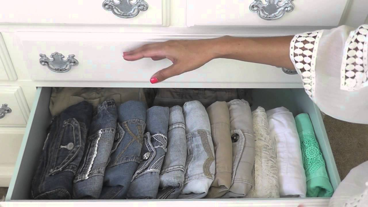 How i organize my dresser youtube How to organize your clothes without a closet