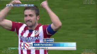 Gabi Fernandez WONDER Goal - Altetico Madrid 2-2 Real Madrid