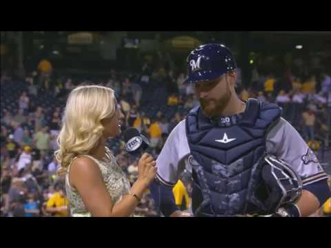 Lucroy says hits from top of the order help entire Brewers lineup