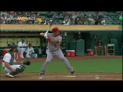 Albert Pujols Hitting Slow Motion Home Run Baseball Swing Batting Tips MLB Angels