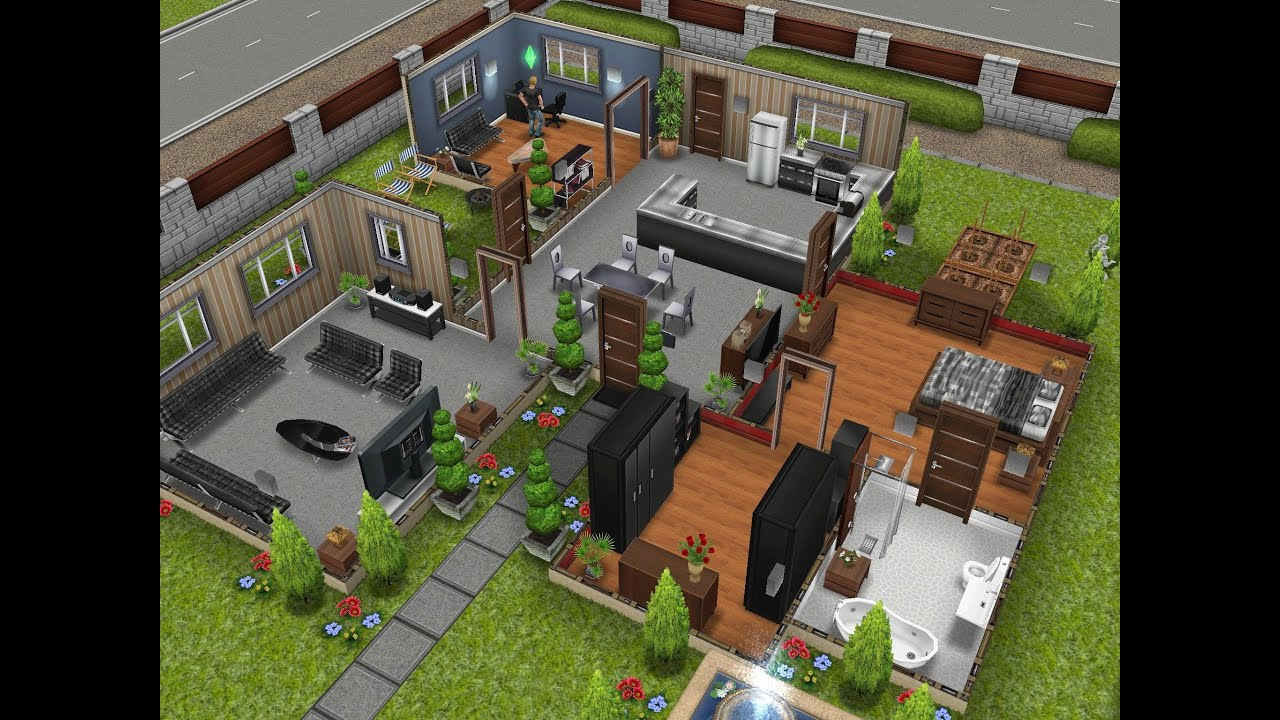 The Sims Freeplay Designer Home YouTube