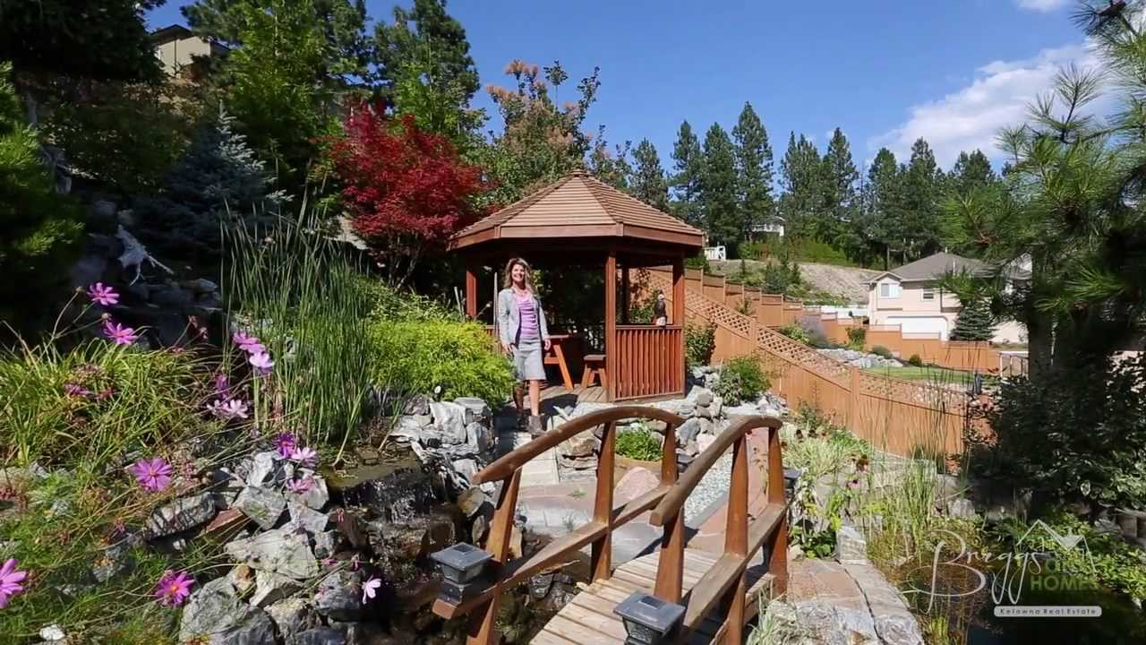 Now sold private backyard oasis 2056 horizon dr west for Koi fish pond kelowna