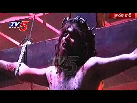 Good Friday   Jesus Cross Skit Played In Calvary Temple   Hyderabad   TV5 News