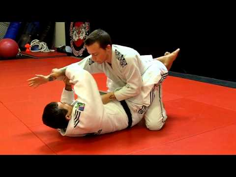 Jiu Jitsu Techniques - Lapel / Collar Choke From Inside the Guard Image 1