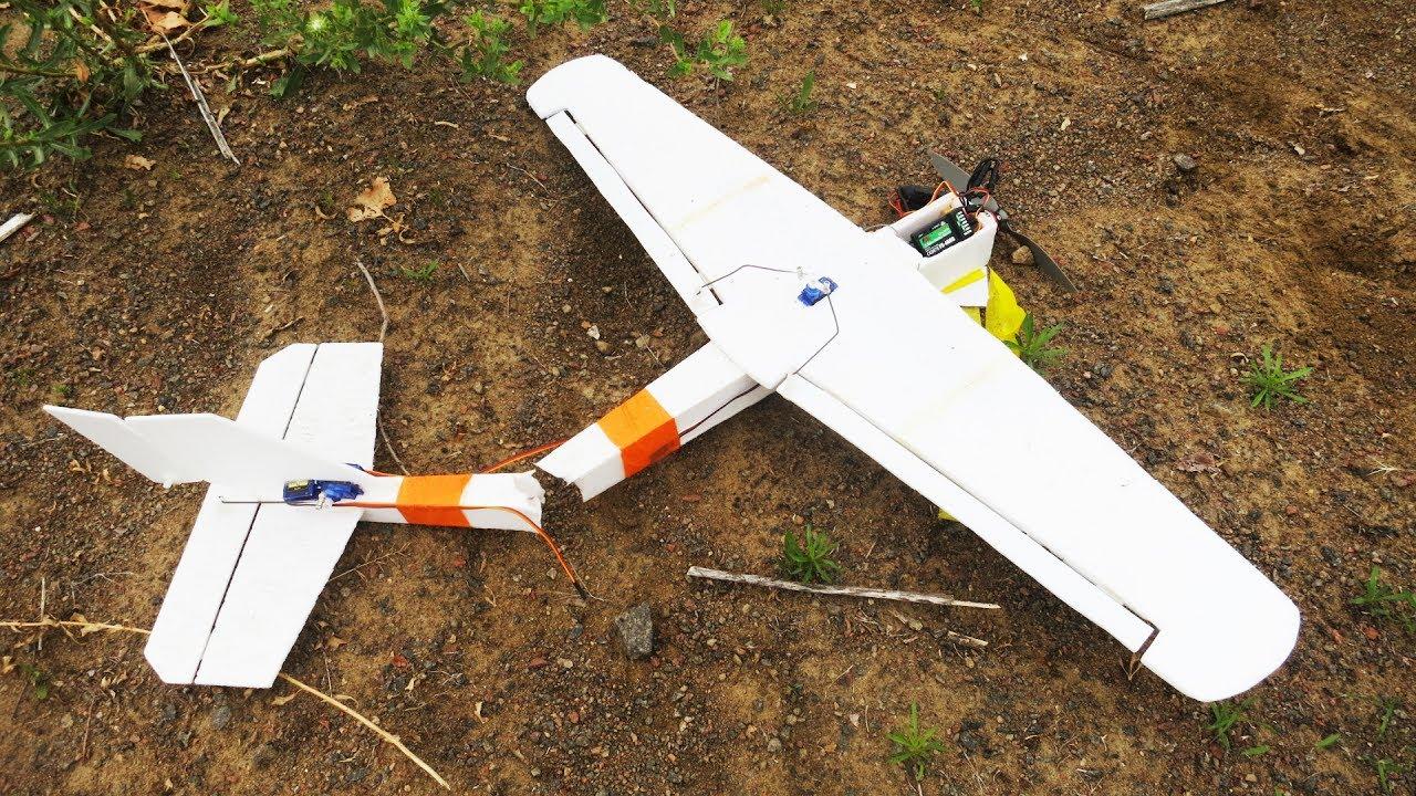 Радиоуправляемый самолёт своими руками с двигателем 60