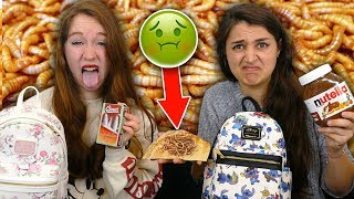 BACKPACK SWITCH UP CHALLENGE HORRIBLE ! INSECTES, CROQUETTES, SARDINES...