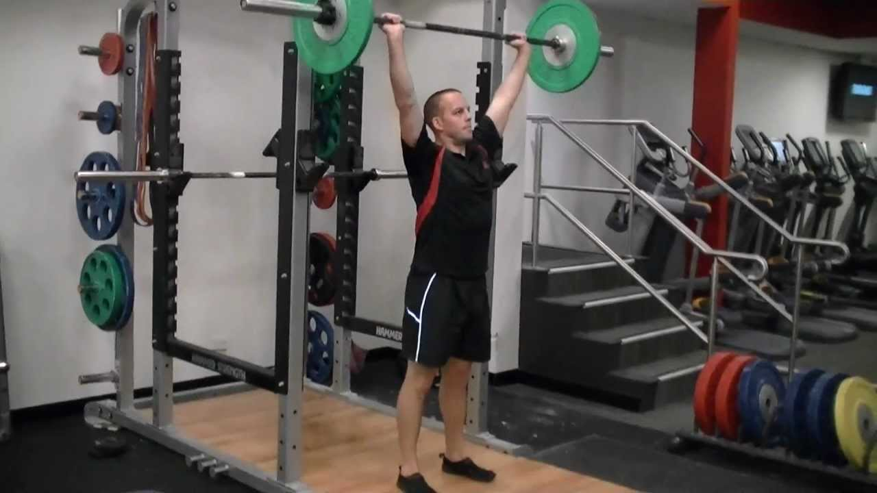 Barbell Shoulder Press Grip Width Shoulder Press Wide Grip