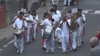PASACALLES ANTES DEL ENCIERRO BANDA DE MUSICA DE FITERO (NAVARRA) 16- 09 -2016 .