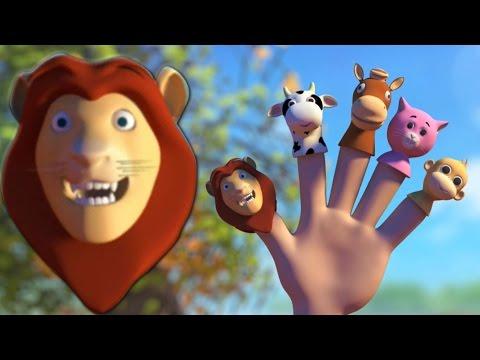 Dito di animale Famiglia 3D | Filastrocca | 3D Educational Video | Animal Finger Family 3D
