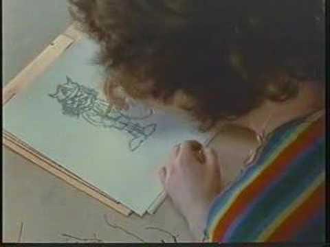 Angus Young draws himself!!