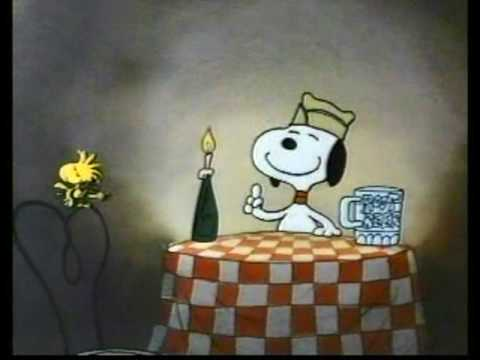 Peanuts - Snoopy drunk on root beer - Happy Dance
