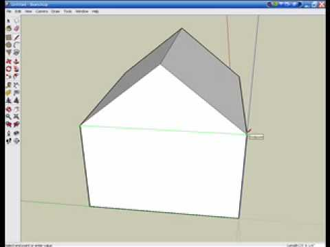 How to make a simple house in google sketchup youtube for Minimalist house sketchup