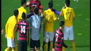 Zhang Linpeng Red Card  Western Sydney Wanderers Vs Guangzhou Evergrande