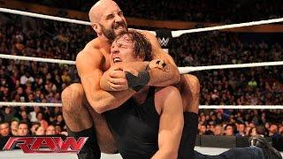 Dean Ambrose vs. Cesaro: Raw, Nov. 3, 2014