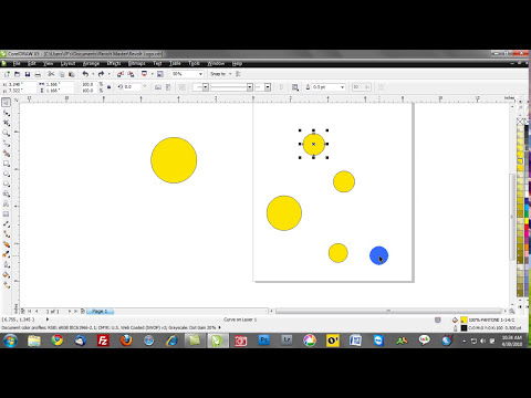 corel draw training videos: group, ungroup, combine