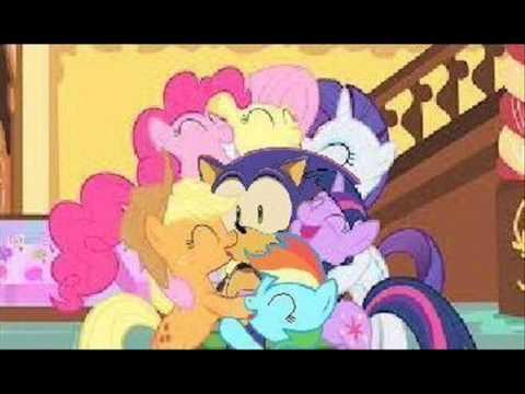 Sonic vs Pony Sonic y my Little Pony Sonic
