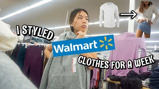 I STYLED WALMART CLOTHES FOR A WEEK