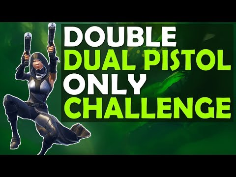 DOUBLE DUAL PISTOL ONLY CHALLENGE | WHAT DID I JUST SEE THEM BUILD?! - (Fortnite Battle Royale)