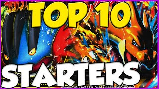 ✔ Top 10 Best / Strongest Starter Pokemon! Best Pokemon Starters!