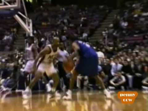 Allen Iverson with the shake-and-bake, crossover move on Stephon Marbury vs Nets 99/00 NBA