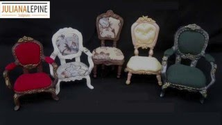 DIY- Miniature Chairs Tutorial- Cold Porcelain